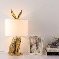 TUDA 24X49cm Free Shipping Fashion Creative Table Lamp Resin Rabbit Shaped Table Lamp Living Room Decoration Modern Table Lamp