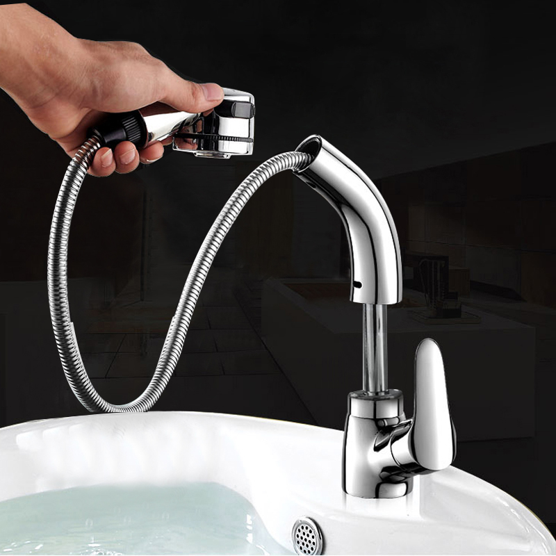 BAKALA Multi-function Mixer Sink Bathroom Pull Out Sprayer Faucet Tap Bathroom Faucet  360 Degree Swivel Basin Faucets WHDY01BAKALA Multi-function Mixer Sink Bathroom Pull Out Sprayer Faucet Tap Bathroom Faucet  360 Degree Swivel Basin Faucets WHDY01