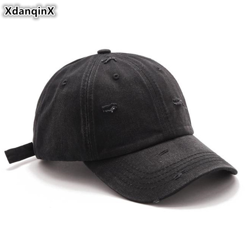 Men's Hats Xdanqinx Womens Washed Denim Ponytail Baseball Cap Vintage Fashion Hip Hop Cap Snapback Cap Adjustable Size Novelty Mens Hat To Ensure Smooth Transmission Apparel Accessories