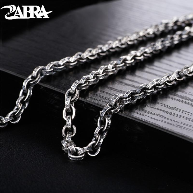 Qualifiziert Echt Solide 925 Sterling Silber Kette Halskette Anhänger Männer Frauen Gravierten Schrift Vintage-accessoires Mode Fine Jewellery