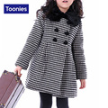 2016 New Children Girl Long Plaid Coats Korean Long Sleeve Autumn Winter All-match Sweet Princess Coats Kids White Red 5-15Y