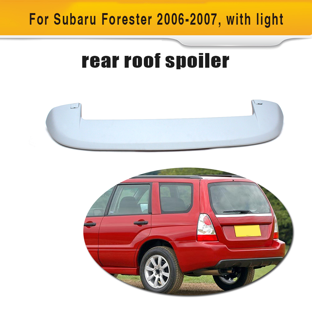 ABS With lamp design car rear wings for auto rear roof spoiler for Forest people 2006 2007 partol black car roof rack cross bars roof luggage carrier cargo boxes bike rack 45kg 100lbs for honda pilot 2013 2014 2015