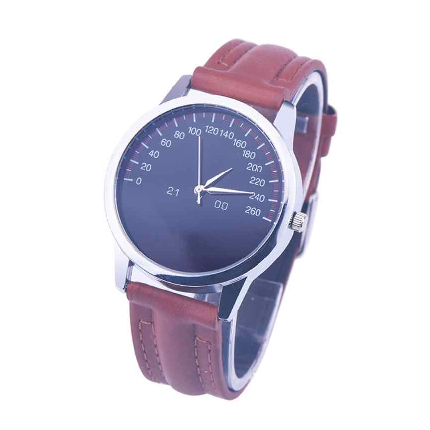 Timezone # 401 New Mens Watches Top Brand Luxury Dial Quartz Watch Men Watch Leather Strap Roman Mens Watch Male Clock