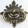 68 mm do Vintage shaky gota anéis móveis puxadores bronze gaveta do armário puxe knob antique brass cômoda porta do armário lida com botões