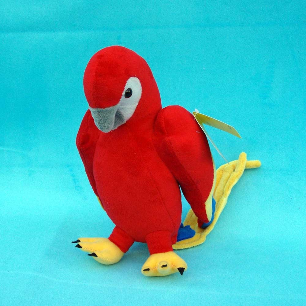 new cute parrot toy plush lovely red macaw toy cute parrot toy gift about 26cm 0079