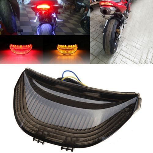 Motorcycle LED Brake Stop Tail Lights With Integrated Turn Signals Indicators Smoke For Honda CBR 600 1000 RR Fireblade