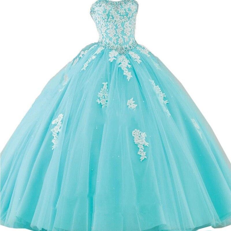 2019 douce 16 robe nouvelle princesse Quinceanera robe formelle de bal de promo robes de bal de reconstitution historique robe de mariée avec dentelle Applique