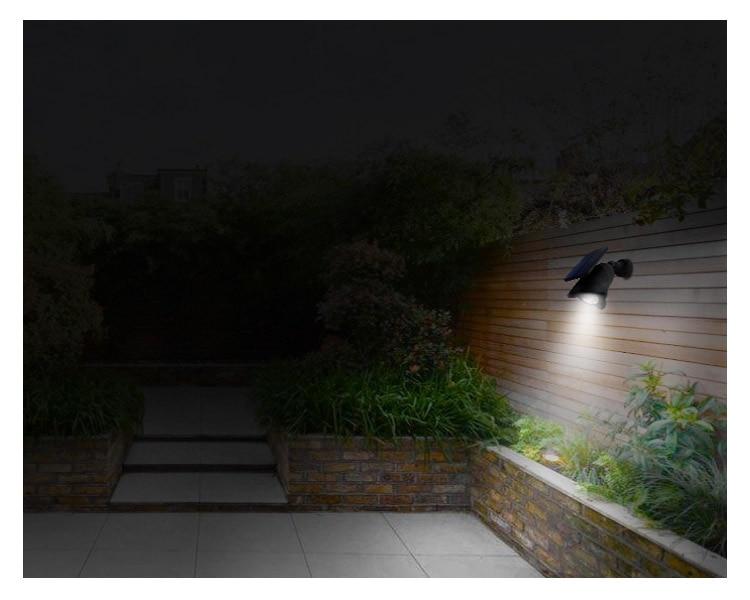 Wall Installation Solar Spot Flood Light Three Mode LED Light with Automatic Light Sensor & Automatic Human Sensor Energy Saving_F9