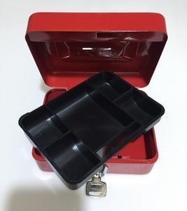 Image 5 - Chiave Mini Piccola Cassetta di Sicurezza In Acciaio Contenuti Negozio di Scatole di Carta Piggy Bank Carta Documento Sicurezza