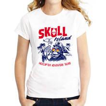 Custom Shirt Printing O-Neck Short-Sleeve Womens Punk Skull