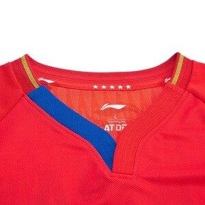 Image 3 - Li ning hombres de la serie de tenis de mesa traje de competición Equipo Nacional Sponsor en seco transpirable forro deportes camisetas AAYP081 CAMJ19
