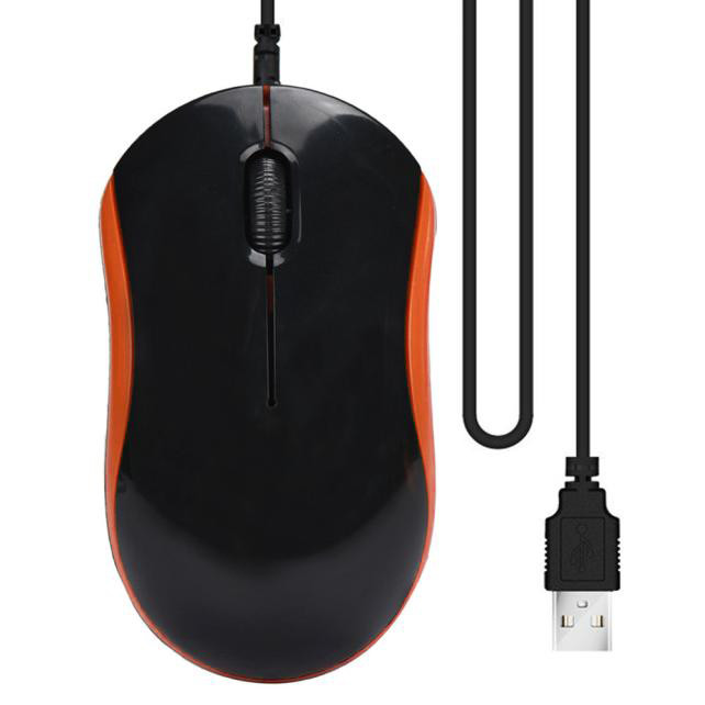 Optical USB LED Wired Game Mouse Office Mice For PC Laptop Computer 6A30 Drop Shipping