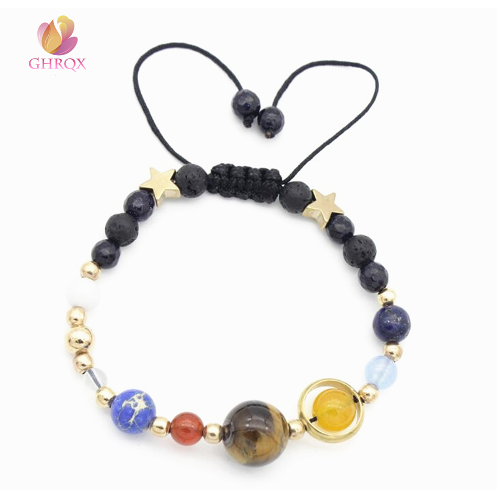 Universe Galaxy the Eight Planets in the Solar System Guardian Star Bracelet for Women