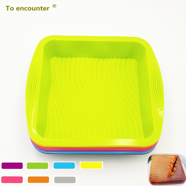 To encounter 26.5*24.5*5CM 205G Big Square Quadrate Shape 3D Silicone Cake Mold Sala Pan Meat DIY Baking Tools For Bakeware