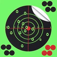 Objetivo de disparo de 14X14CM blanco de flores de salpicadura de 5,5 pulgadas adhesivo de reactividad objetivo de disparo para pistola/Rifle/pistola aglutinantes