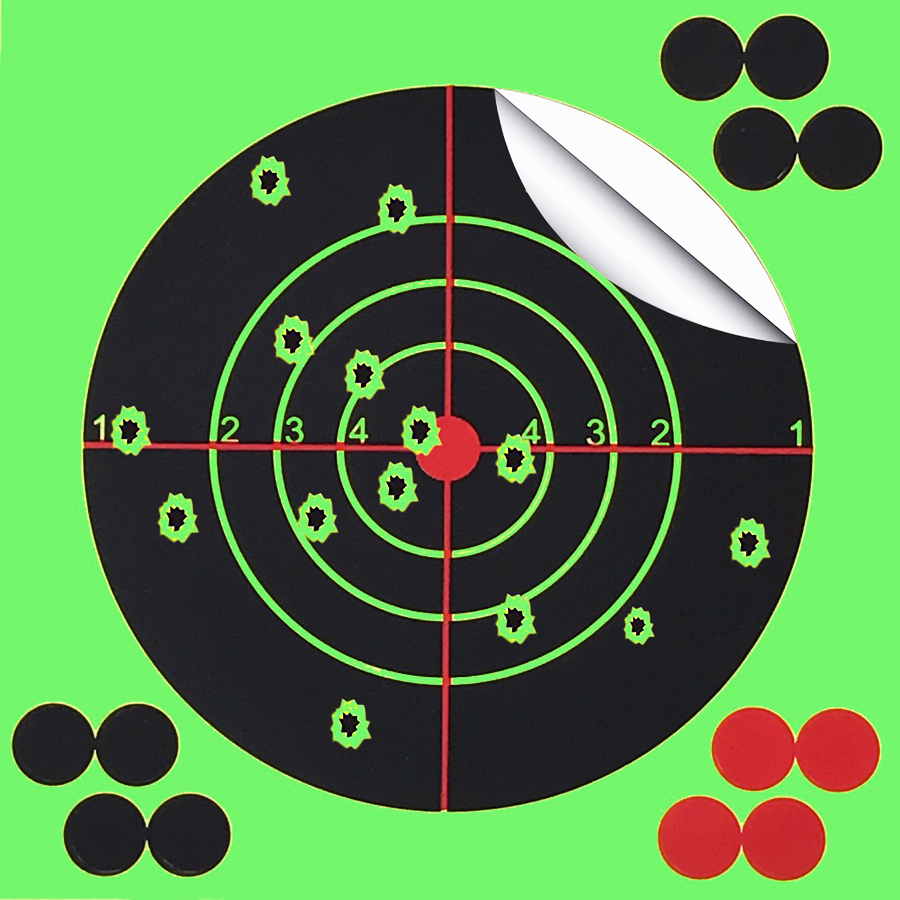 Target Shooting 14 X 14CM Splash Flower Target 5.5 Inch Adhesive Reactivity Shoot Target Aim for Gun / Rifle / Pistol Binders-in Paintball Accessories from Sports & Entertainment