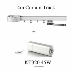 Ewelink Dooya Sunflower KT320E Electric Curtain Motors 45W 220V 50mhz with remote DC2700+4M Customizable Curtain Rail Track