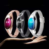 Metal smart bracelet heart rate blood pressure blood oxygen pedometer smart watches men women waterproof for