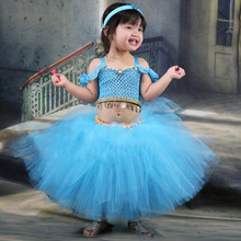 Princess Girl Costume Tutu Dress Birthday Party Gentle Tender Dress for girls 2 3 4 5 6 7 8 9 10 11 12 13 14 years Children's недорго, оригинальная цена