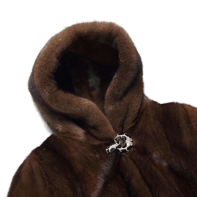 L'économie Femmes Marron Capot Un La Cm Femme Manteau Vêtements 90 Manteaux Fourrure Taille S 6xl 2017 Faux Vison Plus Avec D'hiver Artificielle Nouvelle Luxe De zqwxZR