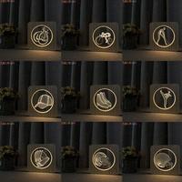 FULLOSUN 3D Illusion Lamp 7 Color Change Touch Light Baseball Football Style Night Light for Children Birthday Gift