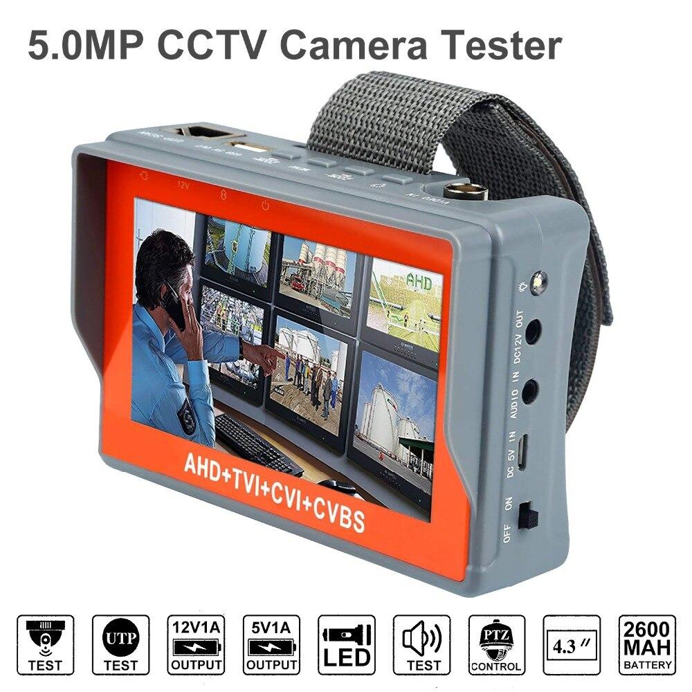 Anpviz 2MP AHD CCTV Testeur 4 Dans 1 Pour AHD TVI CVI CVBS Analogique Caméra moniteur de sécurité Avec 4.3-Pouces écran lcd 5 V 2A, 12 V 1A
