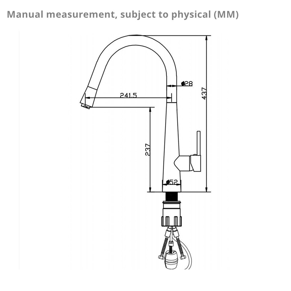 Купить с кэшбэком Smesiteli Solid Brass Matte Black 360 Swivel Kitchen Mixer Tap Pull Out Sprayer Laundry Sink Basin Faucet 10 Year Warranty