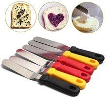 28*3 cm Mantequilla de acero inoxidable cuchillo de crema espátula recta curva glaseado pastelería herramientas