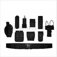 Tactical Belt Military Multifunctional Duty Belt Army Polices Guard Utility Kit Set Handcuffs Pouch Flashlight Case