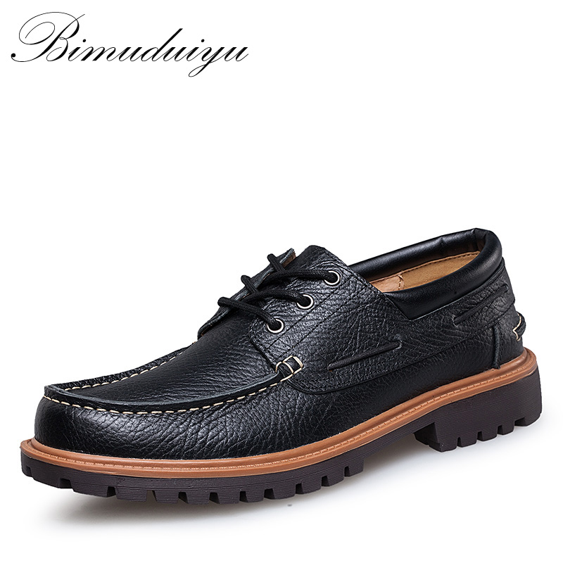 3ee31351d12a0 BIMUDUIYU Brand Autumn Winter Comfortable Men Genuine Leather Casual Shoes  Men Flats Shoes Breathable Deodorant Male Big Size 47