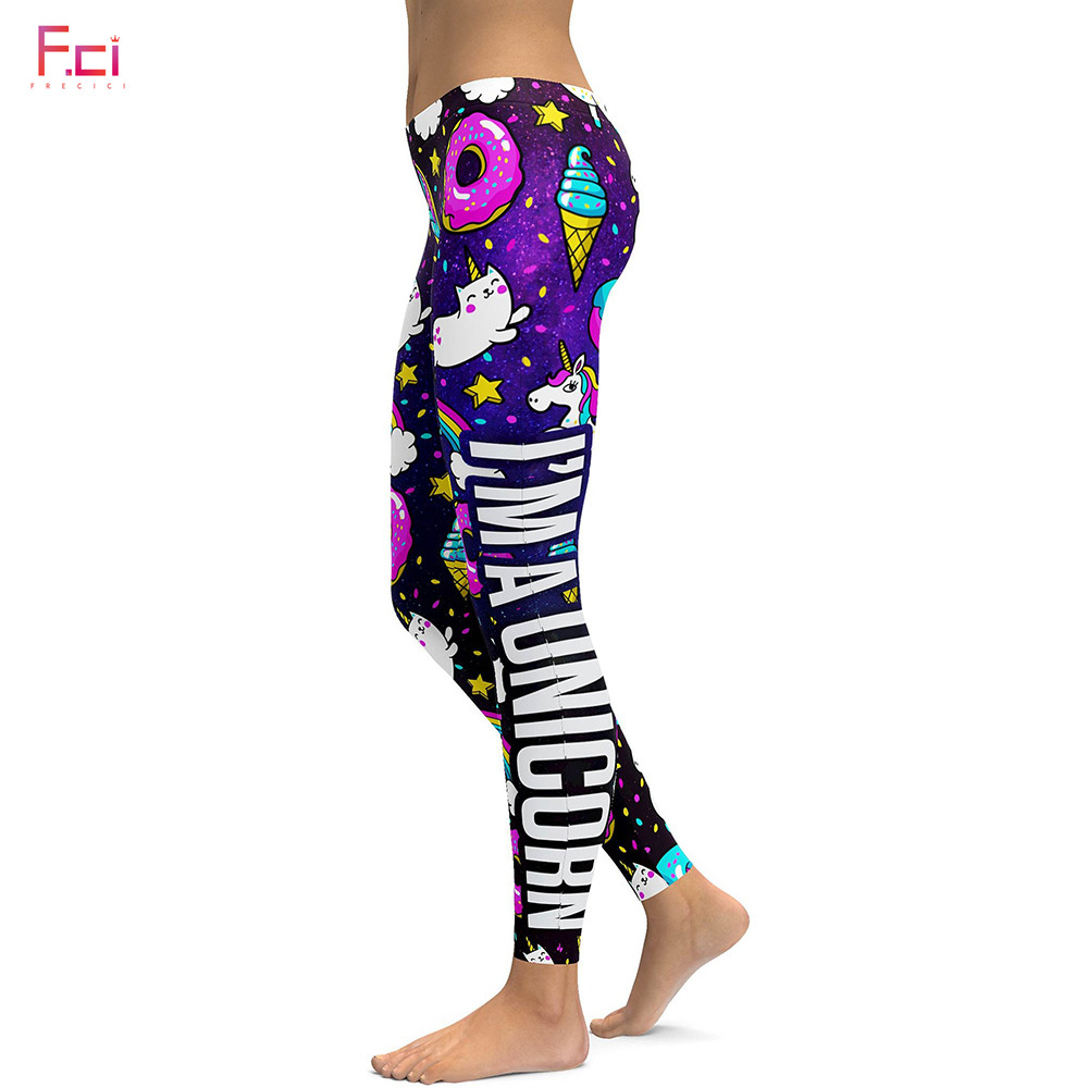 2019 3D Printed Unicorn Cat Rainbow Leggings Women Plus Size Leggings Workout Pants High Waist Slim S~4XL Plus Size Pants
