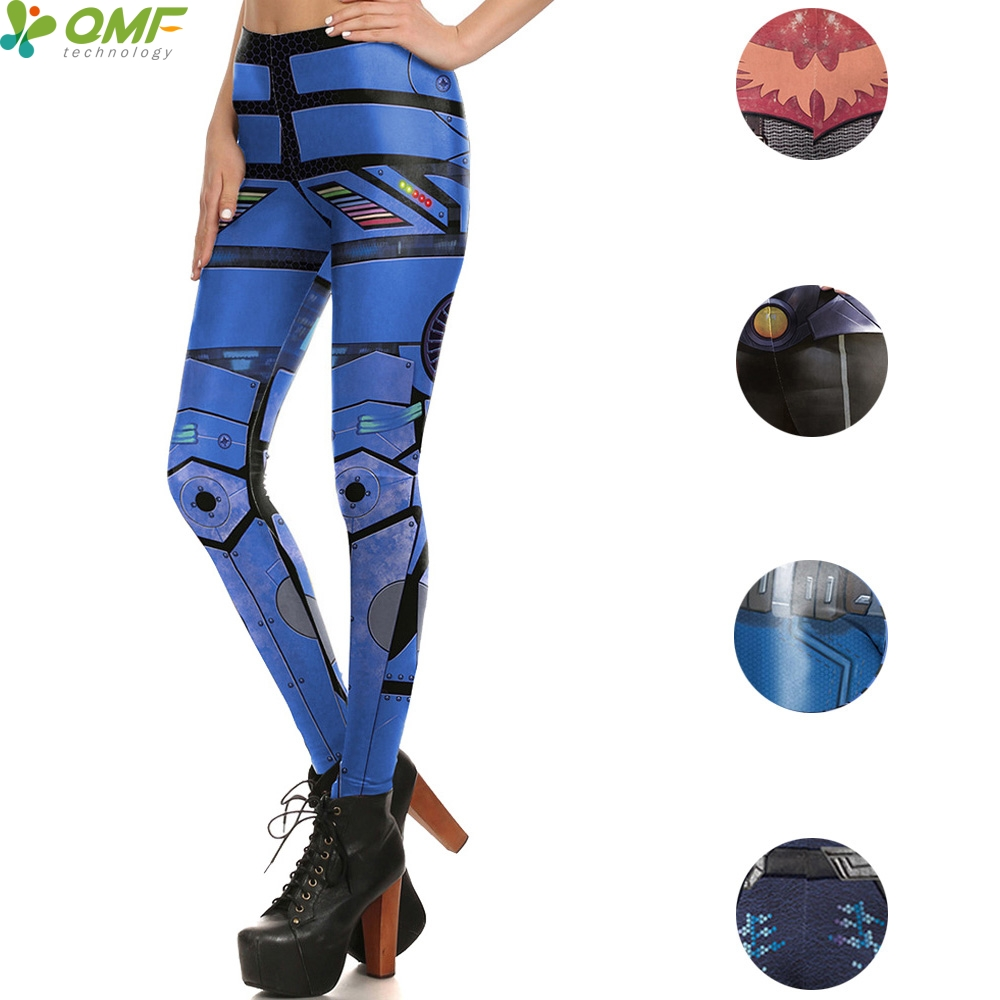 MechWarrior 3d Print Punk Female Yoga Pants Bionic ARMOUR