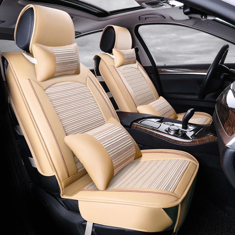 Online Shop Automotive Summer Cushion Set Cooling Car Seat Covers For ROVER 75 MG TF 3 6 7 5 Maserati Coupe Spyder Quattroporte Maybach
