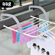 AAG Foldable Clothes Shoes Drying Rack Punch Free Hanger Multipurpose Winter Heating Radiator Balcony Indoor drying rack