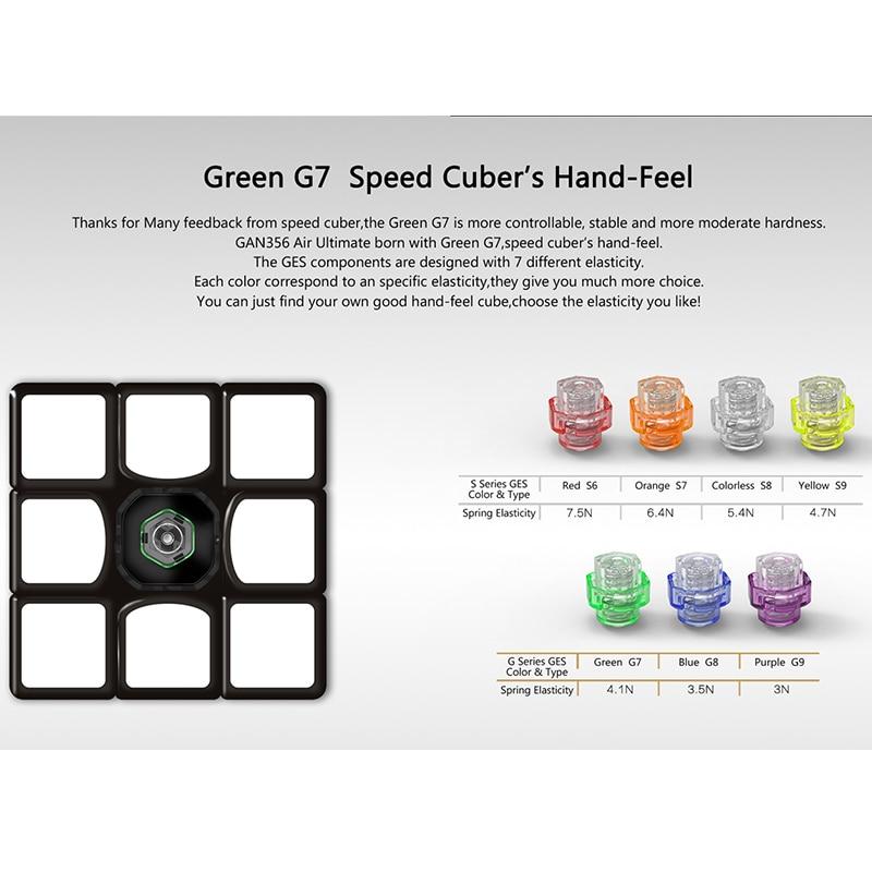 GAN356 Cube magique ultime de l'air 3x3x3 Puzzle de vitesse GAN 356 Air U Version Cube de compétition jouets éducatifs 56mm - 5