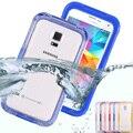 S5 s4 s3 fresco impermeable transparente del caso para samsung galaxy s3 S4 S5 Caja Del Teléfono de Plástico Cubierta de Coque Deportes Natación Capa de Caramelo