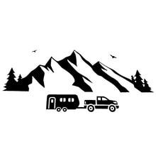 19.5cm*8cm Mountain Moving Bird Flying On Line Amusing Vivid Window Decal Vinyl Car Sticker