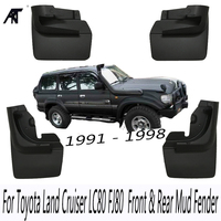 Car Mud Flaps Car Mudflaps Mudguard For Toyota Land Cruiser LC80 FJ80 1991 1998 Mud Guard Set Car Mud Flaps