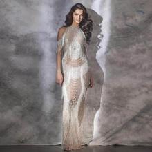 Robe De Soiree çıplak püskül akşam elbise uzun gece elbisesi denizkızı resmi elbiseler fermuar geri