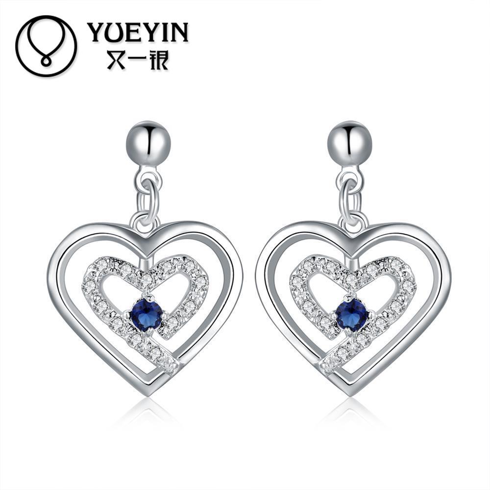 2016 New beautiful plant shape silver stud earrings for