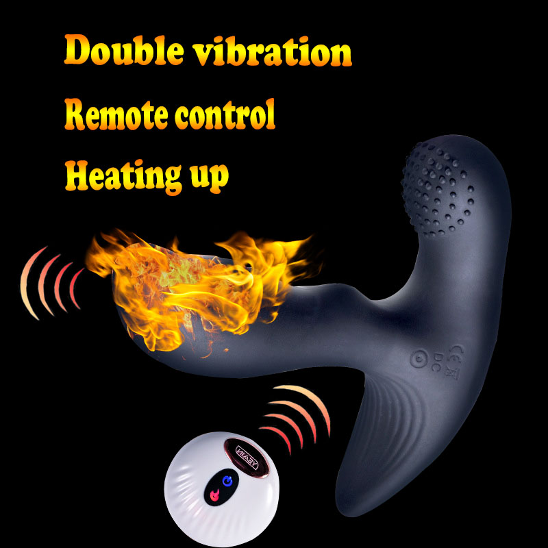 Yeain Heating up anal plug vibrator prostate stimulation massager vibrating prostate massager butt plug anal sex toys for men removable handle heating vibrating butt plug male prostata massage sex toys for men gay g spot anal plug usb prostate massager