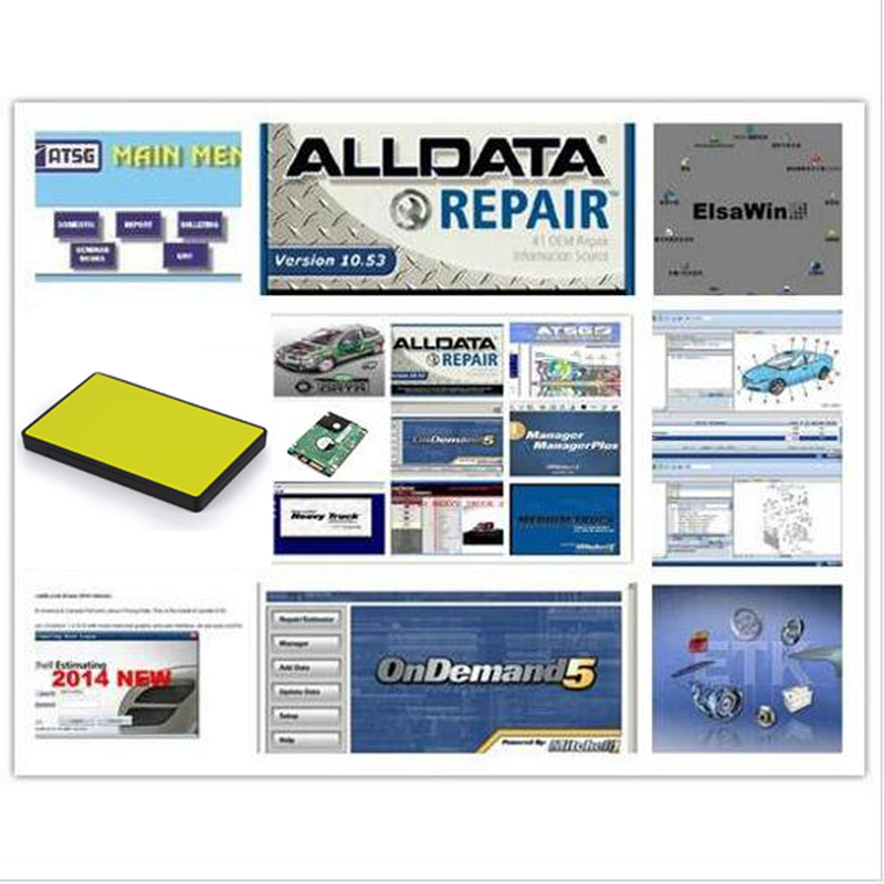 Alldata and mitchell on demand Software All data 10.53+mitchell on demand 2015+ElsaWin+Vivid workshop+atsg in New <font><b>1tb</b></font> <font><b>hdd</b></font> usb3.0 image