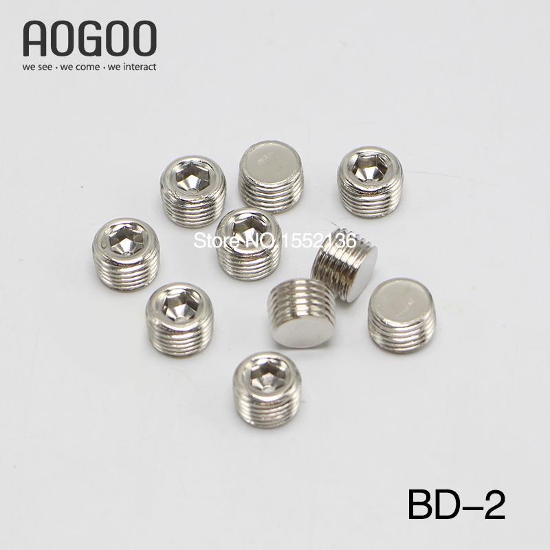 10Pcs/lot 1/4 BD-02 Pneumatic Plug Hydraulic Components Pneumatics Component Seals
