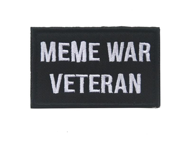 Тактические значки-нашивки Meme War Veteran Morale, эмблемы для джинсов, джинсов, рюкзак, Кепка