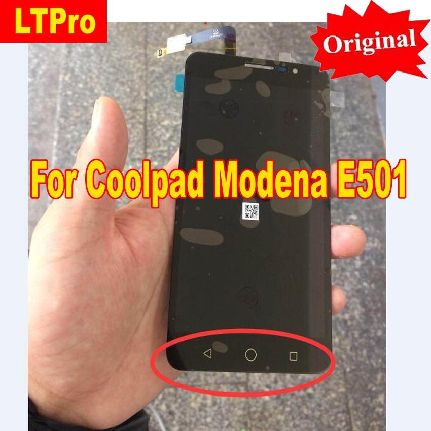 LTPro 100% D'origine Meilleur Travaillant à Plein LCD Affichage à L'écran Tactile Digitizer Assemblée Pour Coolpad Modène E501 Téléphone pièces