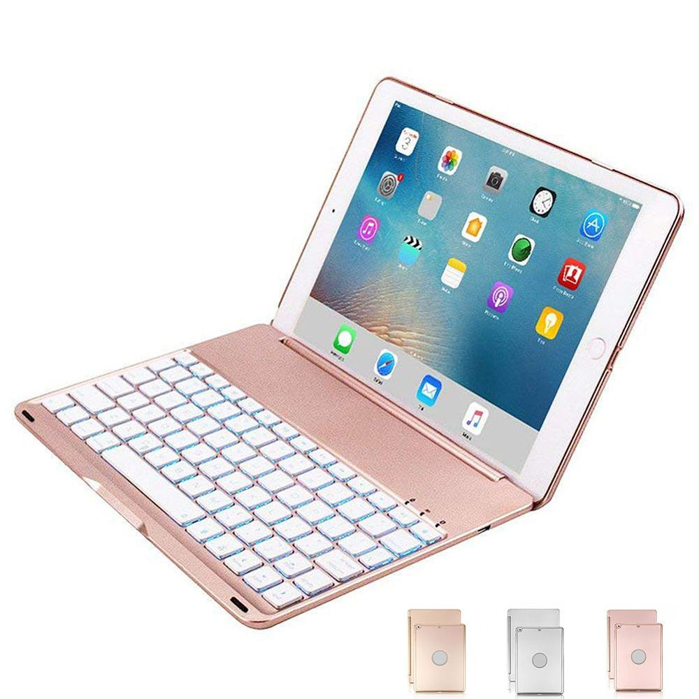 Keyboard Case for iPad 9 7 inch 2018 2017 iPad Air Hard Shell Case with 7
