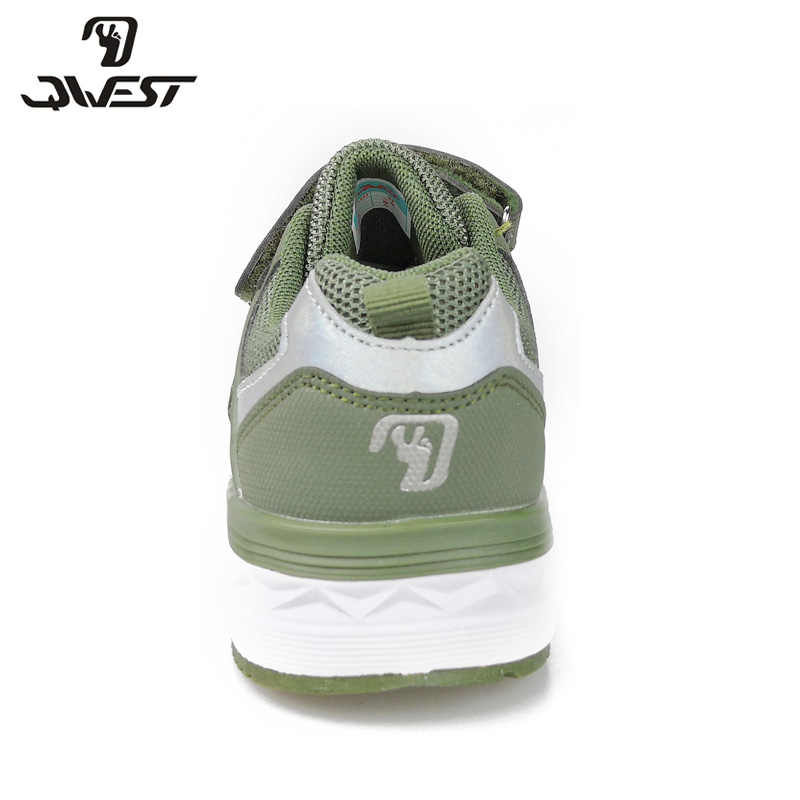 קווסט אביב פנאי ספורט ריצת ילדי נעלי וו & לולאה חיצוני זית סניקרס לילד גודל 32-38 משלוח חינם 91K-NQ-1337