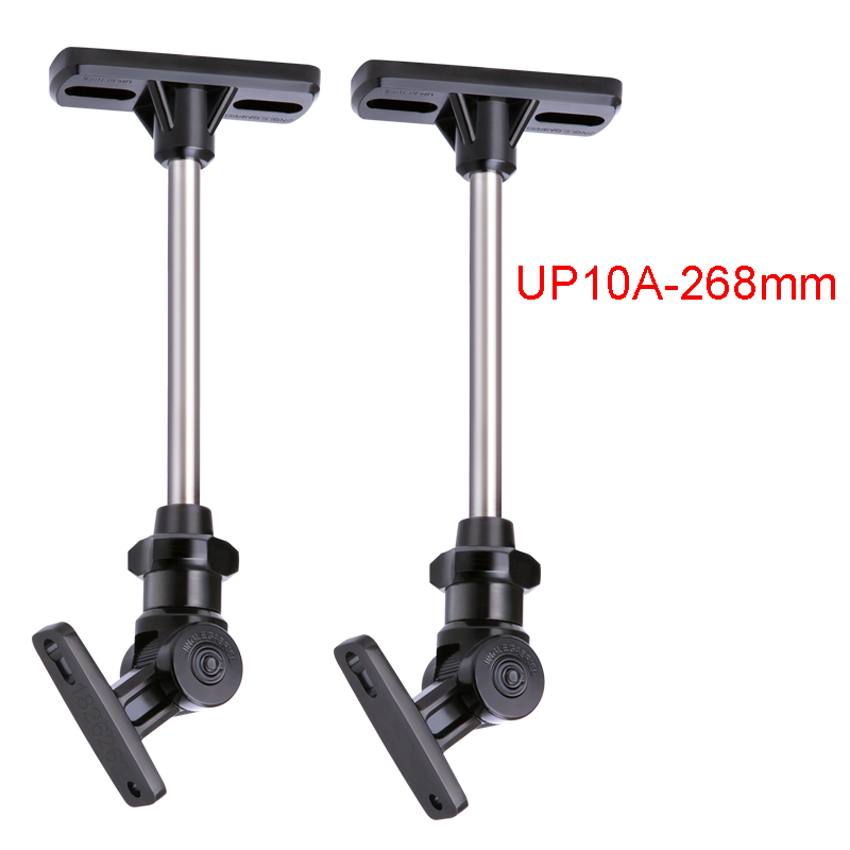 1 Pair 2pcs UP10A 268mm Zinc Alloy Universal Ceiling Mount Surround Speaker Stand Bracket Full Motion