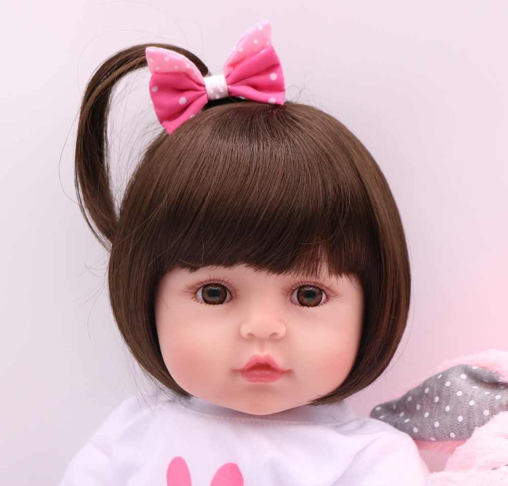 Npk 47 cm silicone renascer super bebê lifelike da criança do bebê bonecas miúdo boneca bebes reborn brinquedos para crianças presentes
