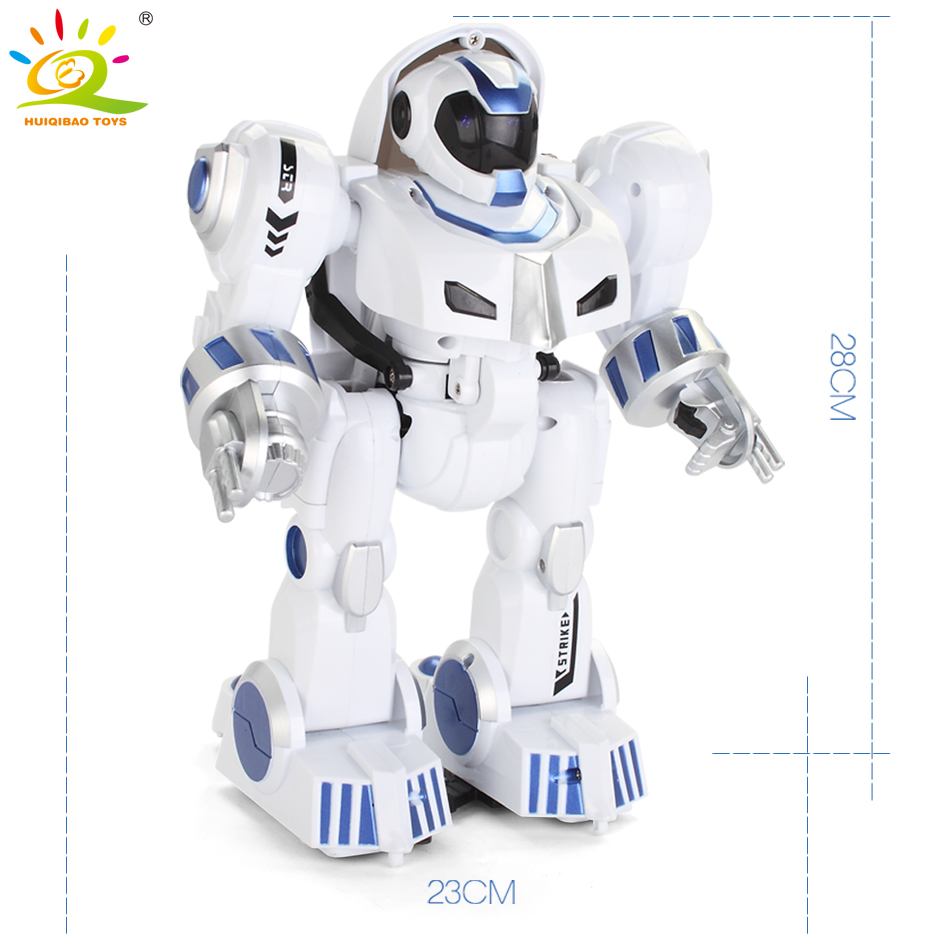 HUIQIBAO игрушки Деформация Интеллектуальный RC робот с музыкой танец электронный умный пульт дистанционного управления игрушки для детей пода... - 6